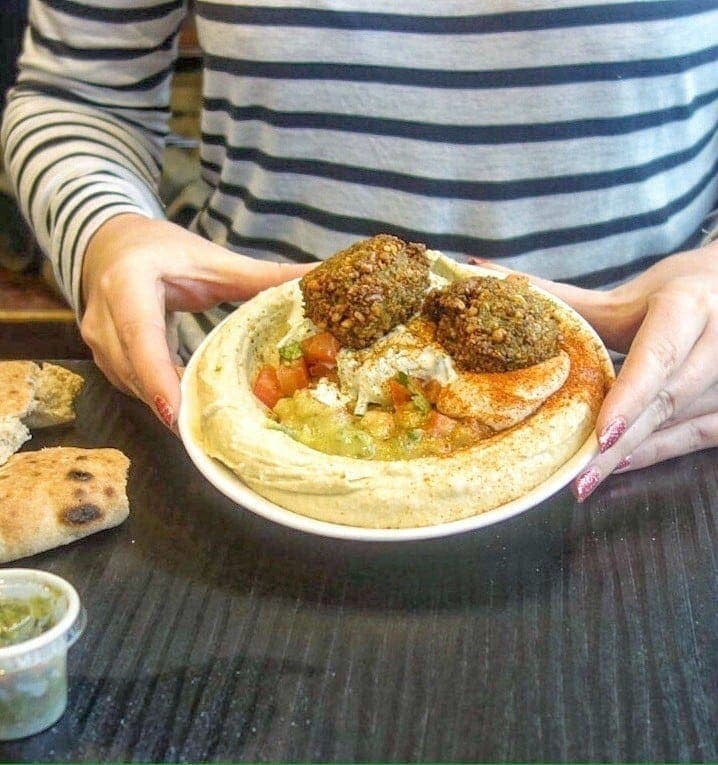 Hummus Bros is a healthy fast food cafe/restaurant serving all things hummus. All hummus comes with a delicious topping and side of freshly cooked pita bread. A great option for a healthy lunch or a place for a quick bite to eat. More on www.notsobasiclondon.com