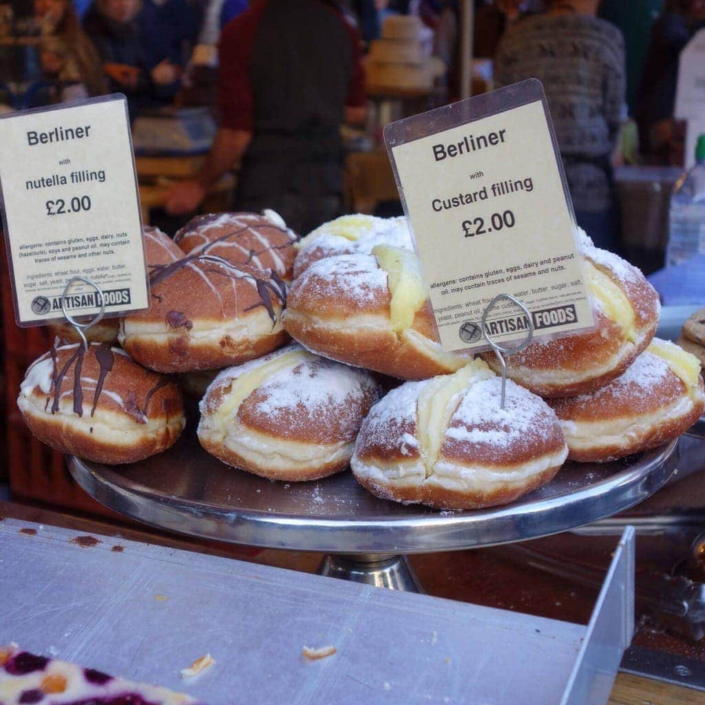 Nutella Doughnut - Borough Market - 30 places to eat Nutella in London (Updated) Find them all at www.notsobasiclondon.com