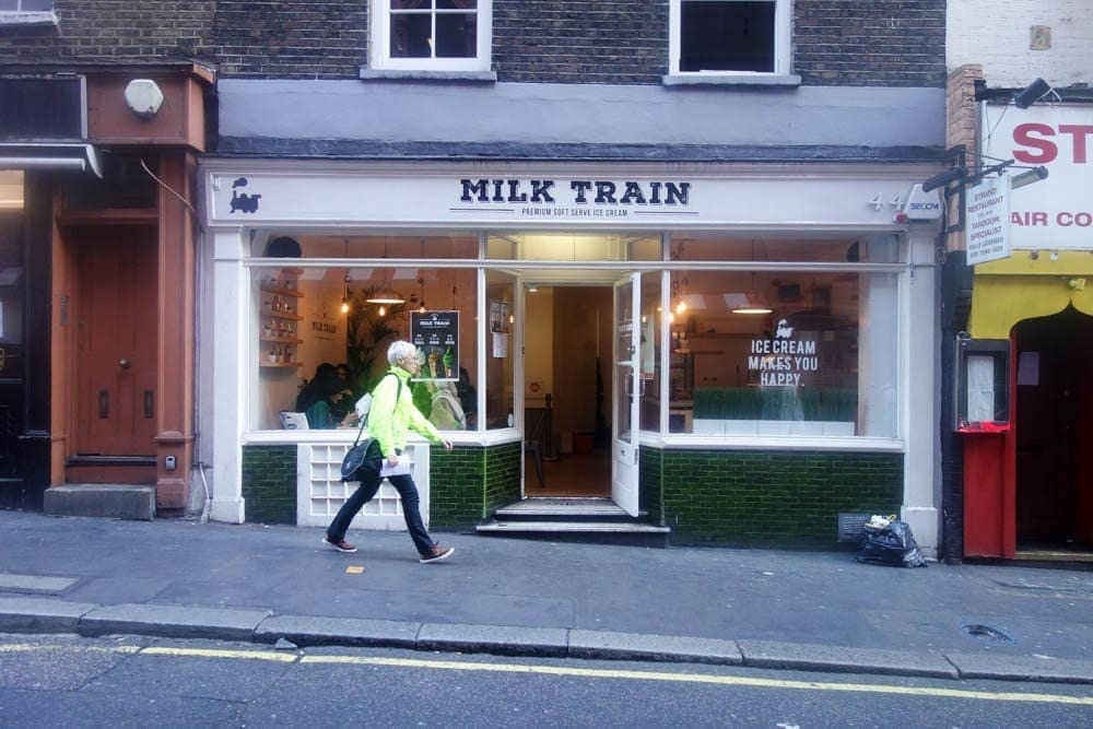 Milk Train is London's first and only candy floss icecream parlour. Choose from 3 flavours, 9 toppings and 2 sauces; all wrapped up in super sweet and sticky candy floss. Whatever the weather this is on the list for must places to eat in London. More details on www.notsobasiclondon.com