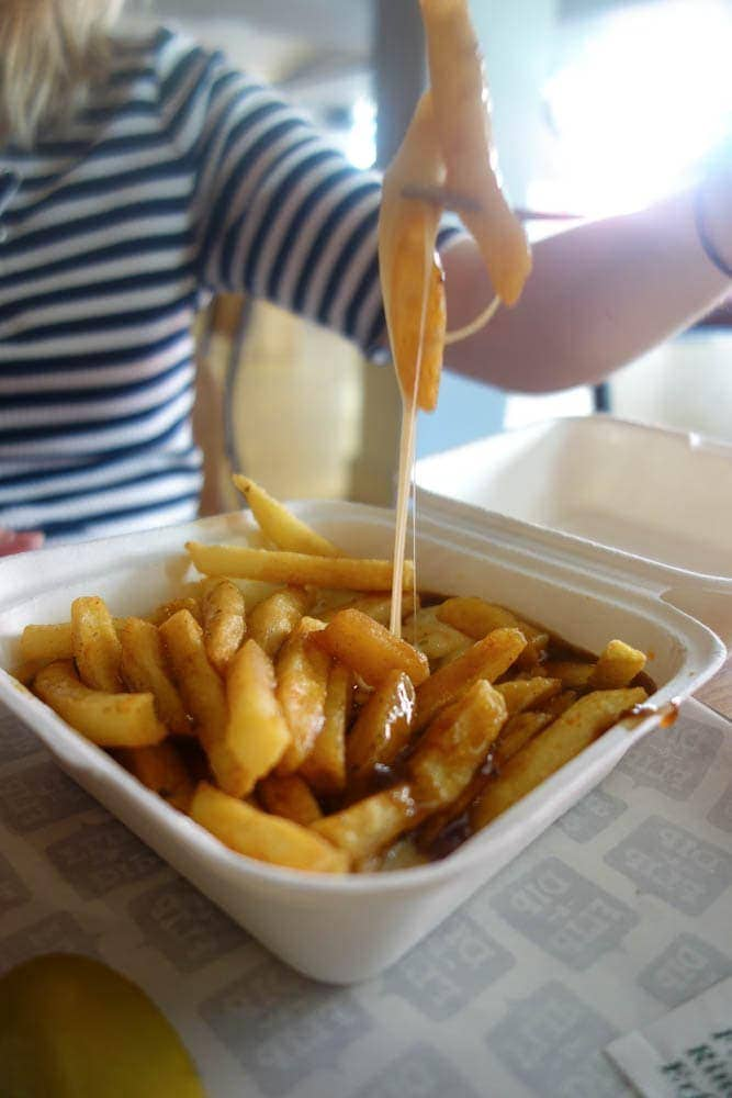 10 Places to Eat Cheesy Chips in London - Dip and Flip Cheese, chips and gravy. NOTSOBASICLONDON, London food blog