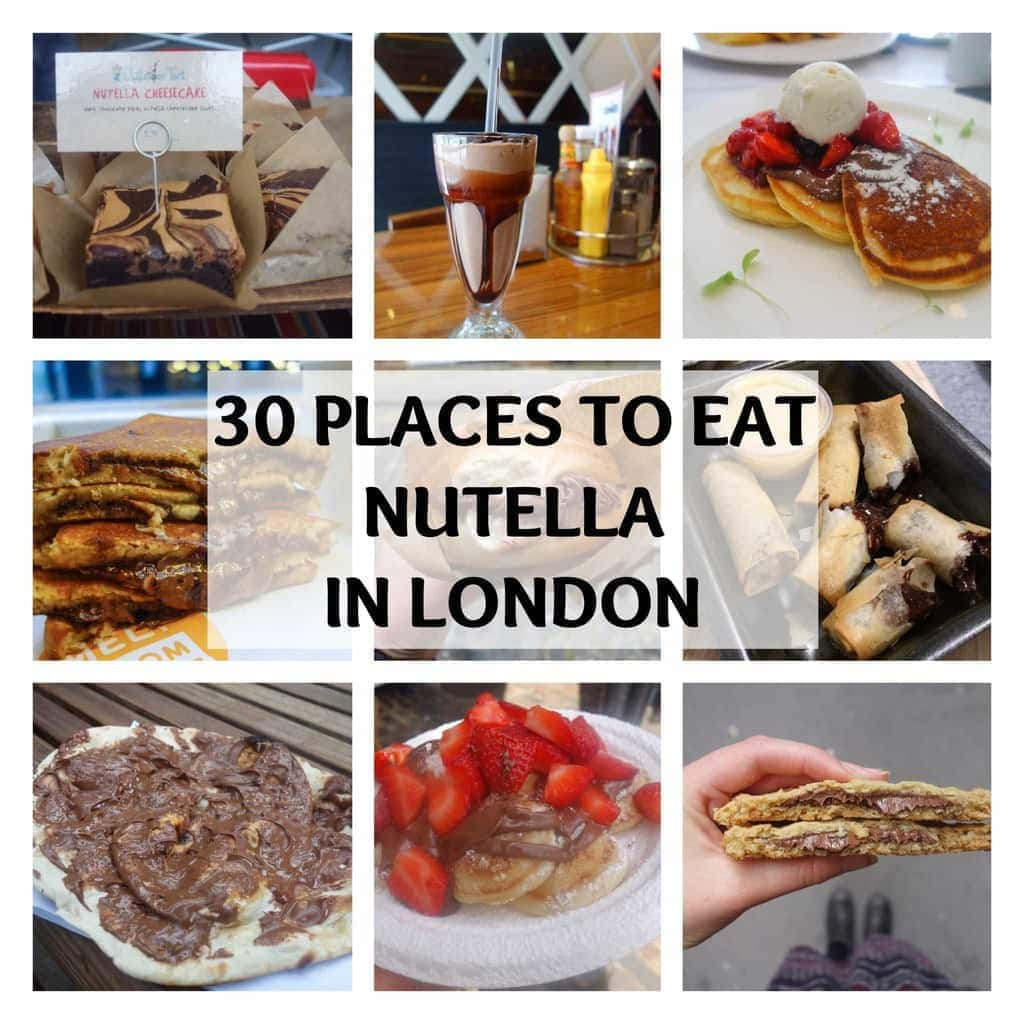 30 places to eat Nutella in London (Updated) Find them all at www.notsobasiclondon.com