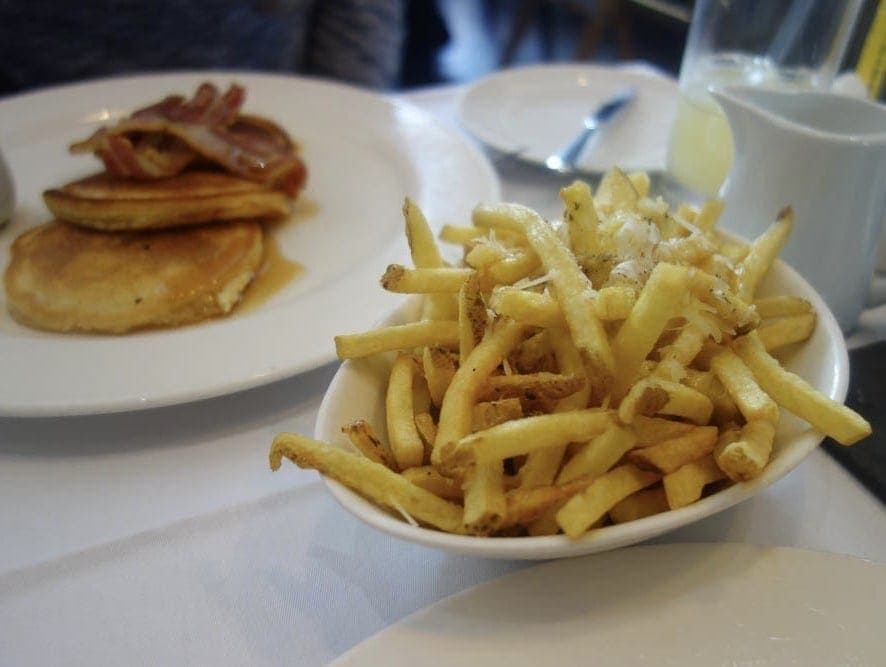 10 Places to Eat Cheesy Chips in London - Parmesan Truffle Fries, Christophers. NOTSOBASICLONDON, London food blog