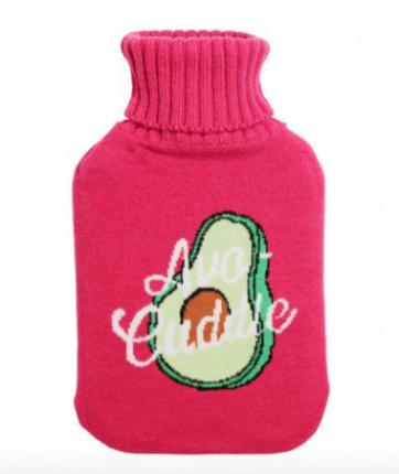 Avocado hot water bottle