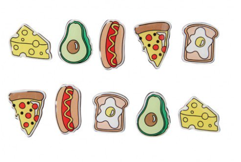 Icons food magnets - set of 10