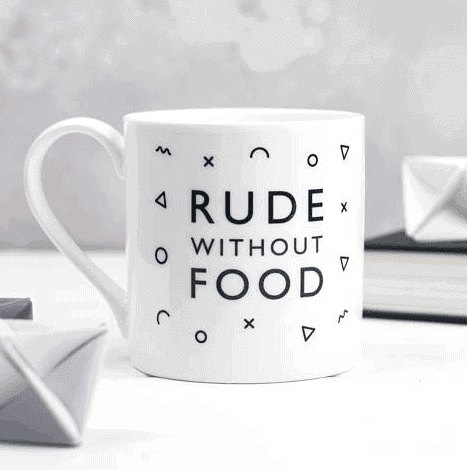 Rude Without Food Mug