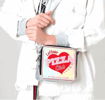 SKINNY DIP LEFTOVER PIZZA CROSS BODY BAG