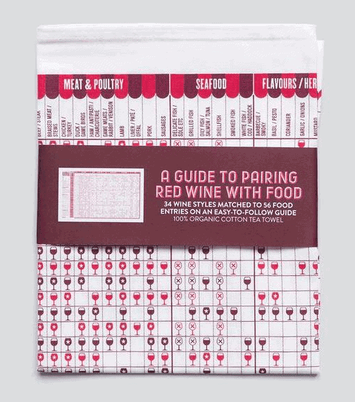 A Guide To Red Wine With Food Tea Towel
