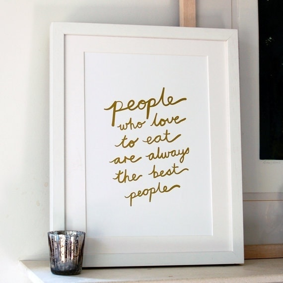 Gold Foil People Who Love To Eat Art Print