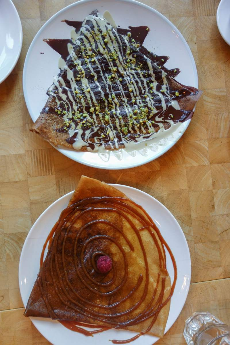 Crepes A La Carte - Raw cacao and salted caramel butter crepes.