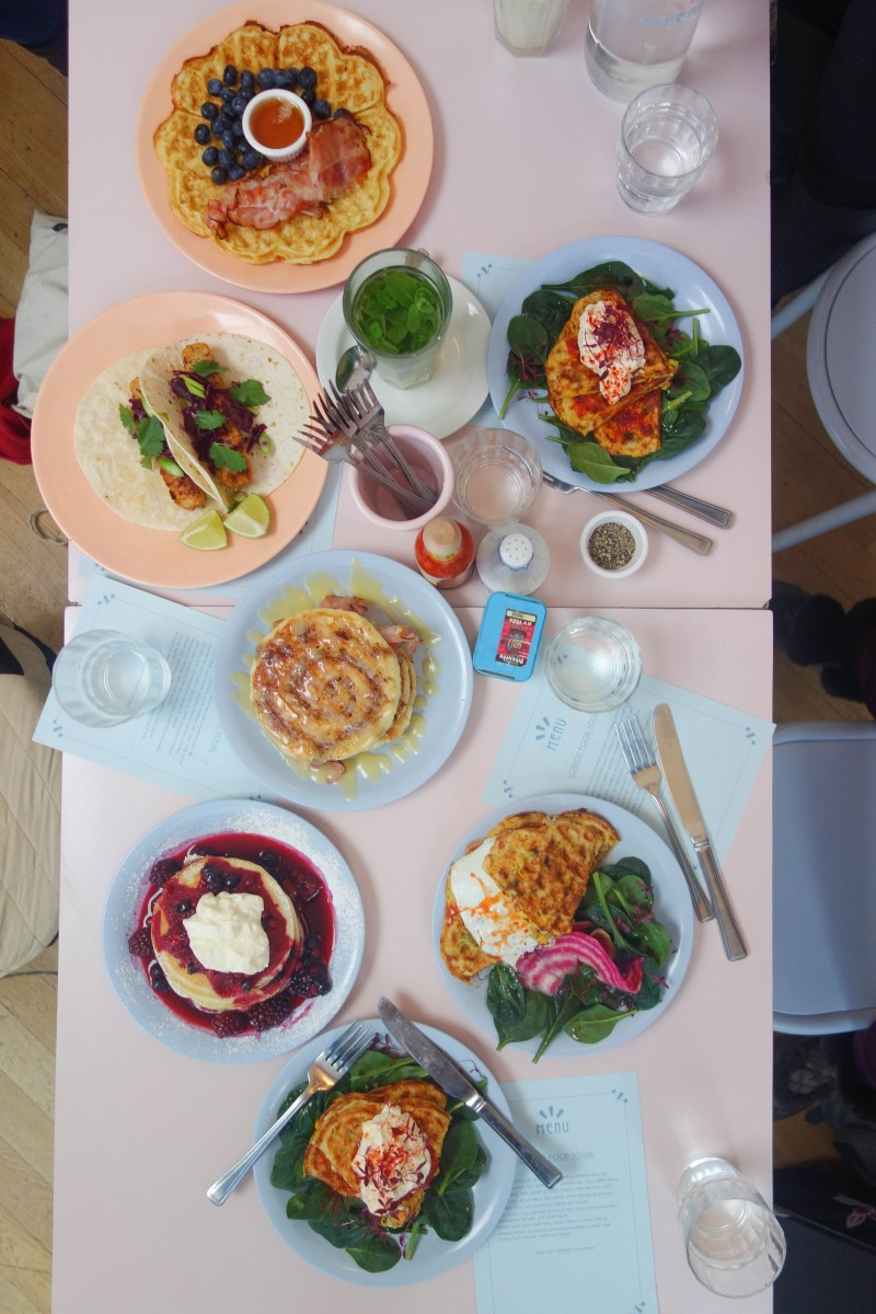Brunch spread at Cafe Miami