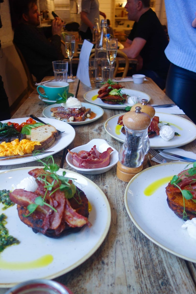 Brunch at Hally's - One of March's London Food Finds (2018). Check out the whole list on notsobasiclondon.com