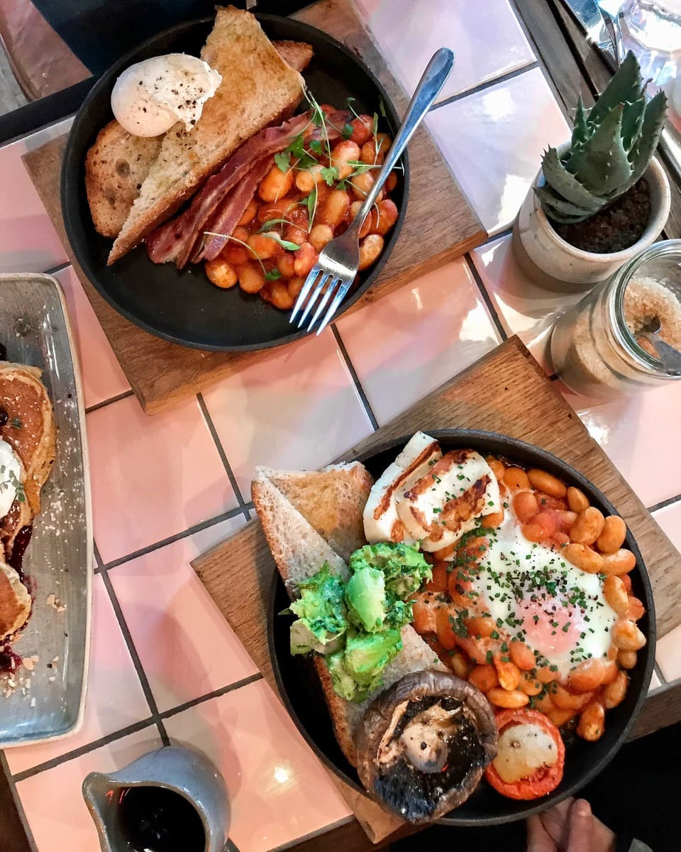 Brunch, Old Street Records - One of March's London Food Finds (2018). Check out the whole list on notsobasiclondon.com