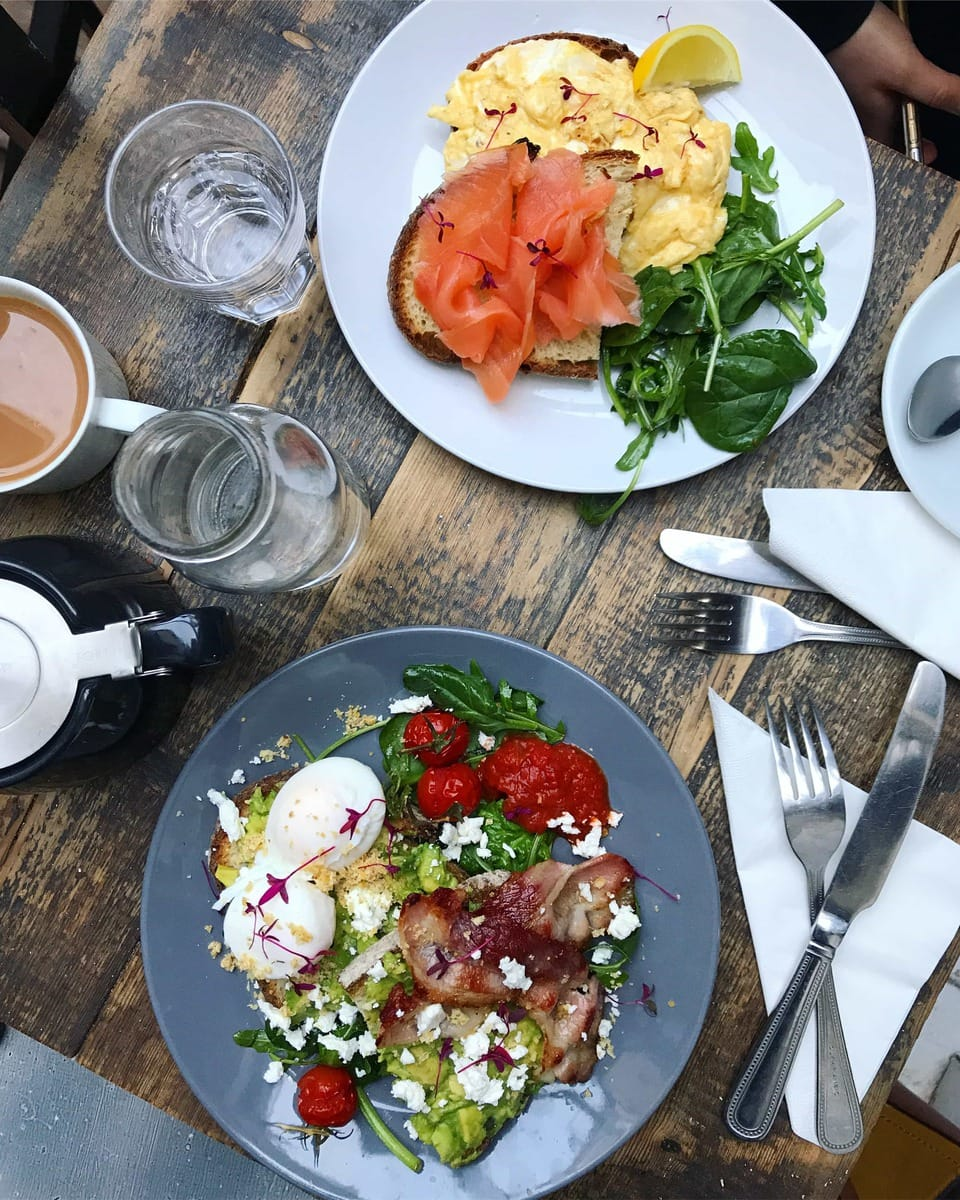 Brunch, Sawyer and Grey - One of March's London Food Finds (2018). Check out the whole list on notsobasiclondon.com