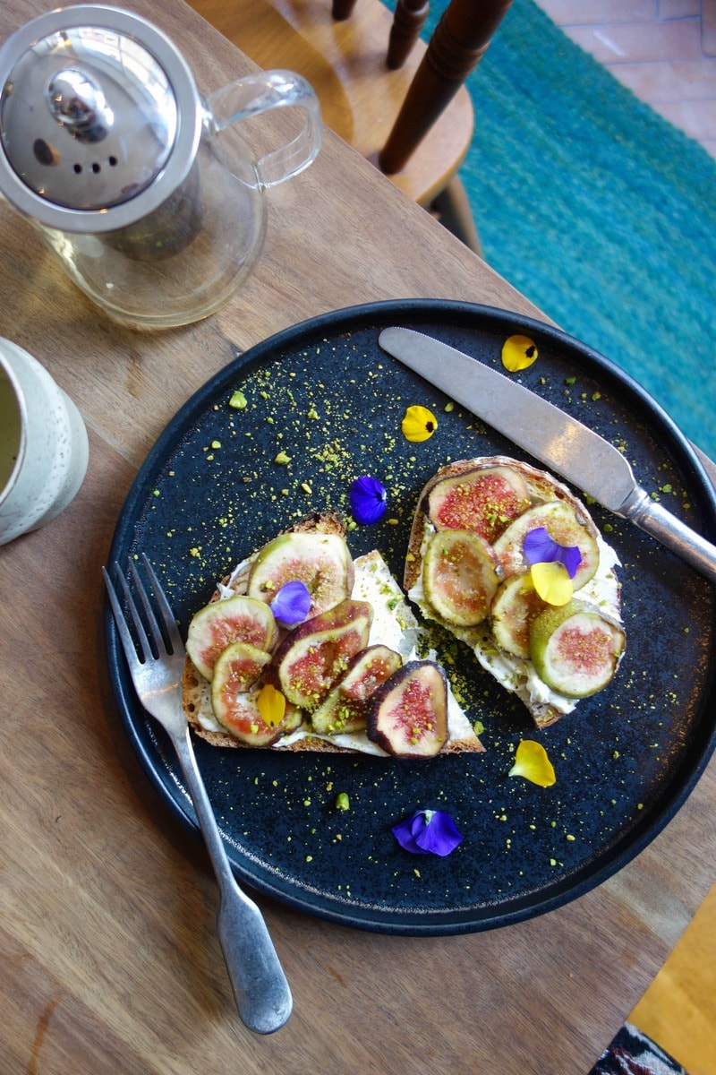 Fig and Marscapone Toast at Abeulo Coffee, Covent Garden - One of April's London Food Finds (2018). Check out the whole list on notsobasiclondon.com