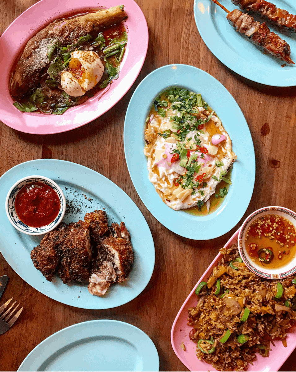 Sharing plates at Smoking Goat - One of April's London Food Finds (2018). Check out the whole list on notsobasiclondon.com
