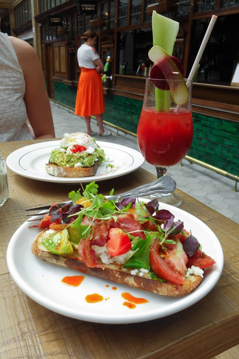 Brunch, Market Halls - One of my London Food Finds this month. Check out the whole list of the best things I've eaten this month on notsobasiclondon.com