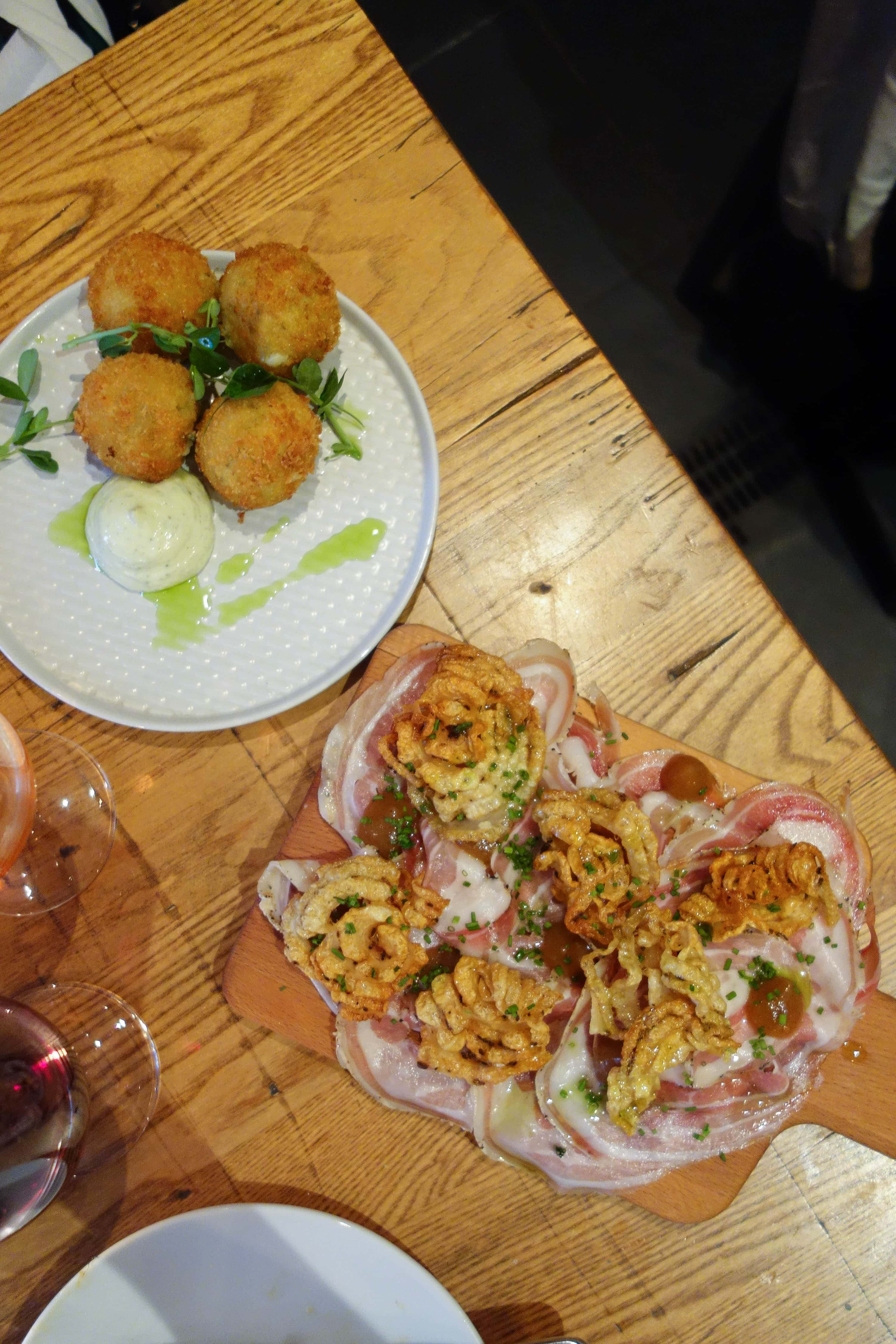 Small Plates and Wine, Linden Stores - One of my London Food Finds this month. Check out the whole list of the best things I've eaten this month on notsobasiclondon.com