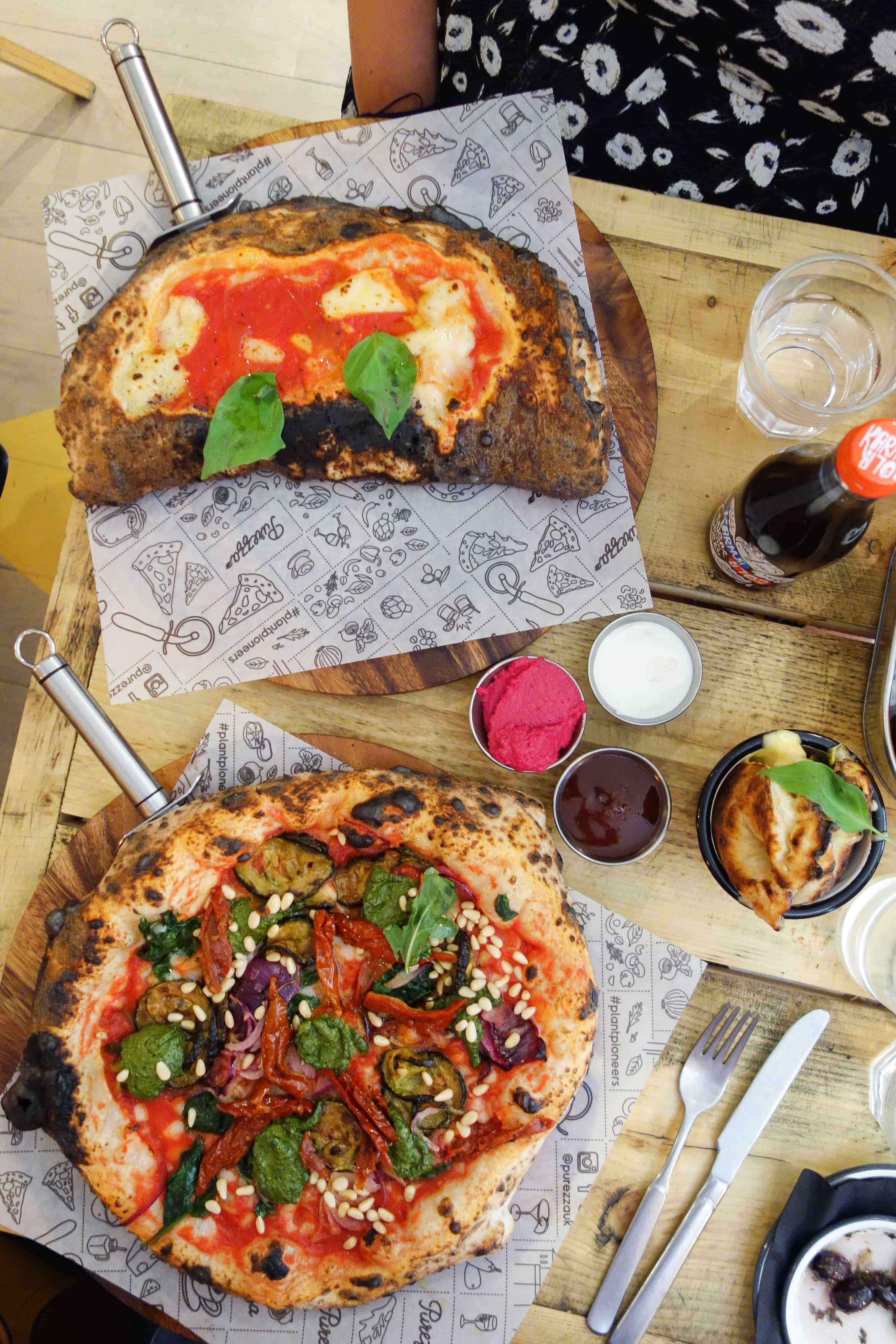 Vegan Pizza, Purezza - One of my London Food Finds this month. Check out the whole list of the best things I've eaten this month on notsobasiclondon.com