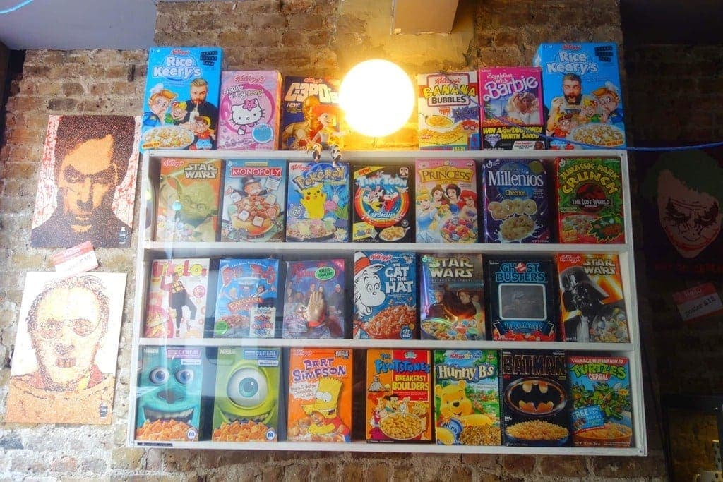 Cereal Killer Cafe is a cafe that sells over 120 varieties of cereal from around the world, pop tarts, and some epic hot chocolates! More on www.notsobasiclondon.com