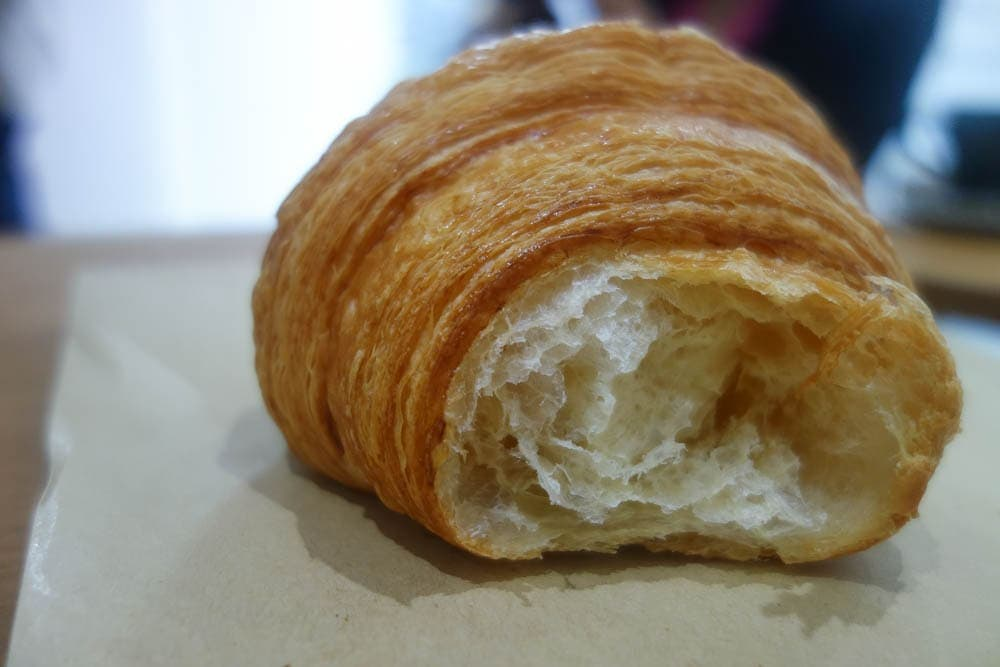 Croissant from Yeast Bakery at Second shot Coffee