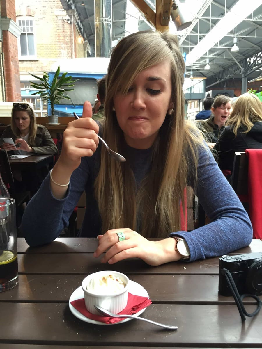 Cheese Ice-cream at Androuet, Spitalfields Market