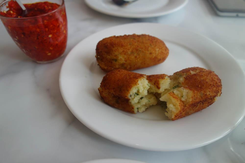 Potatoe and Mozzerella Croquettes at Theo's Pizzeria, Camberwell-2