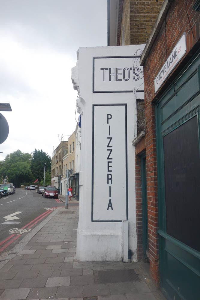 Theo's Pizza , Camberwell is neighbourhood pizzeria that serves delicious thin base thick crust pizza. It's cooked on site in their own stone pizza oven and served fresh with homemade chilli sauce. more details on www.notsobasiclondon.com