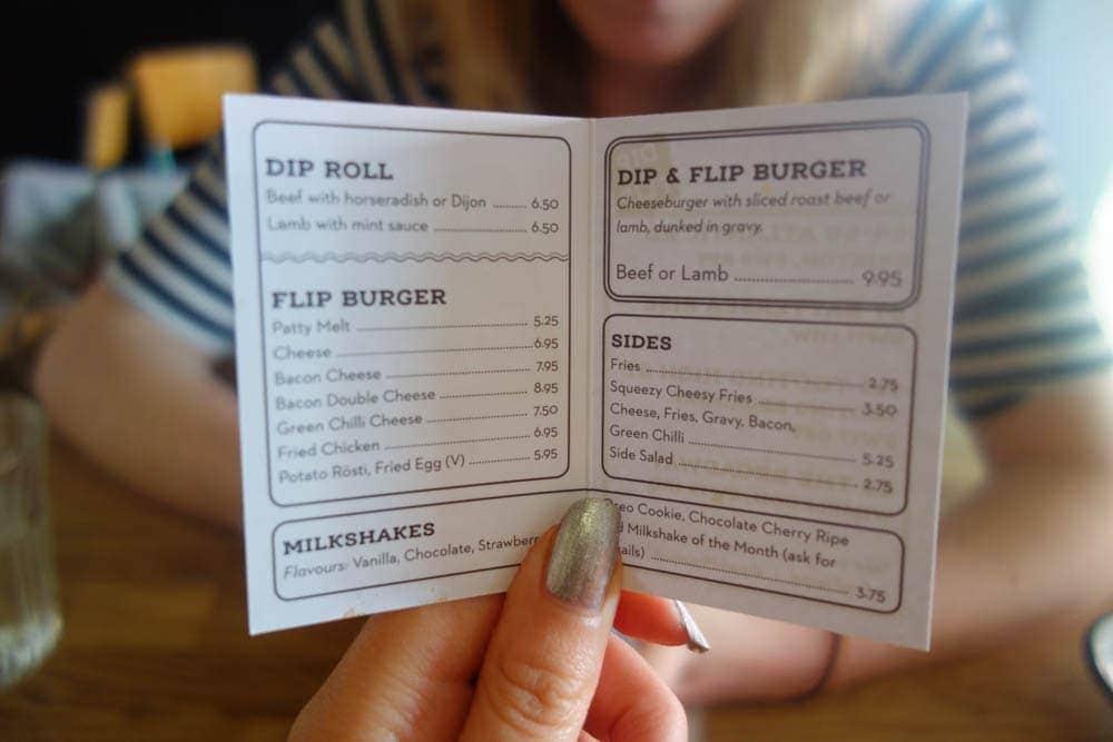 Dip and Flip Menu –  Burgers, Gravy and Beer Joint in London-2