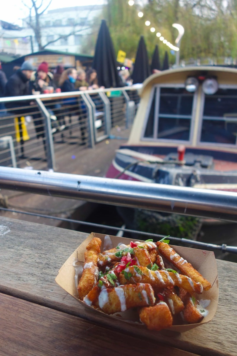 Chips made of cheese? Loving the idea? Not convinced. Then head to Oli Baba's in Camden Market for some halloumi fries and find out for yourself. More on www.notsobasiclondon.com