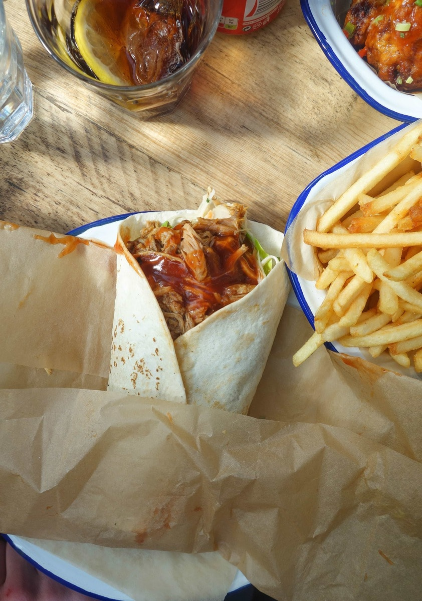 Pulled Pork Wrap: The Joint, Brixton Village