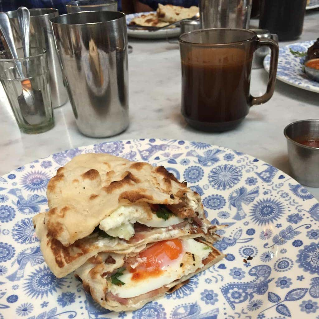 Bacon Naan Bread -  Dishoom, London