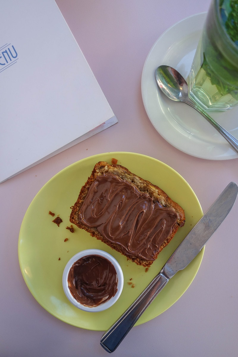 Nutella Banana Bread, Cafe Miami - Where To Eat in London if You're Nutty for Nutella!