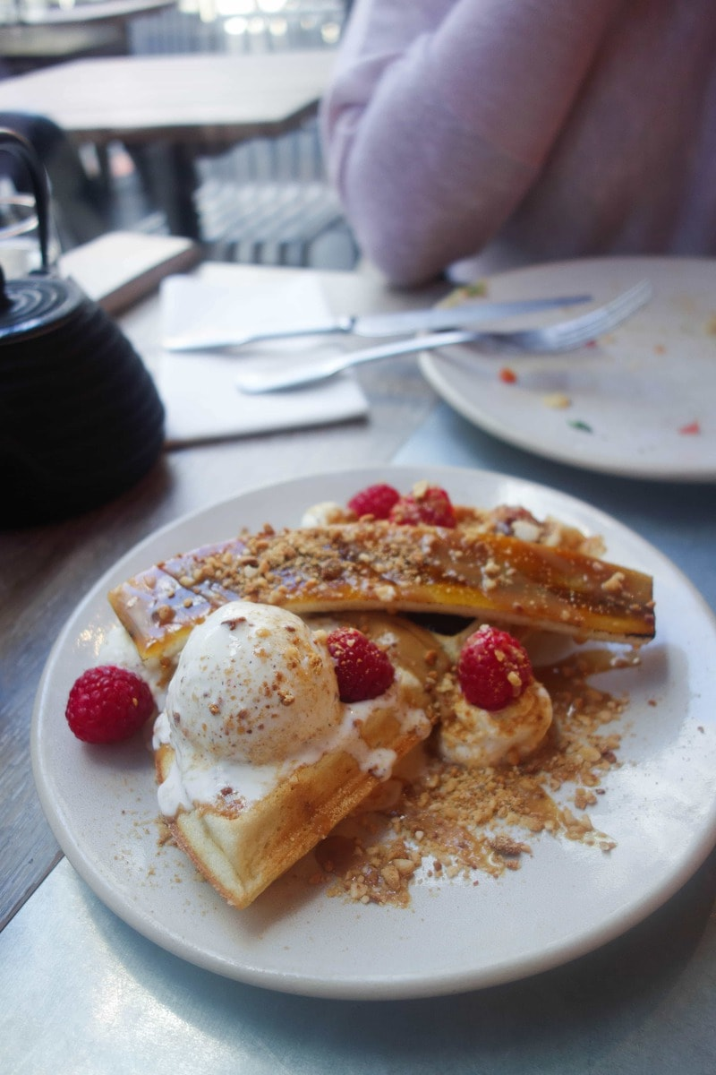 Full Elvis Waffle at Duck and Waffle Local