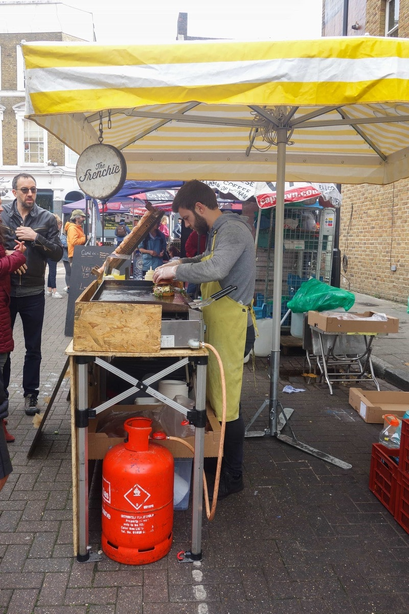 The Frenchie Duck Burgers: Broadway Market, Hackney