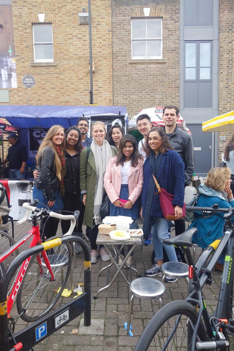 Broadway Market - A Year of The London Food Social: A monthly meet up of people who love food and want to meet others that do too.
