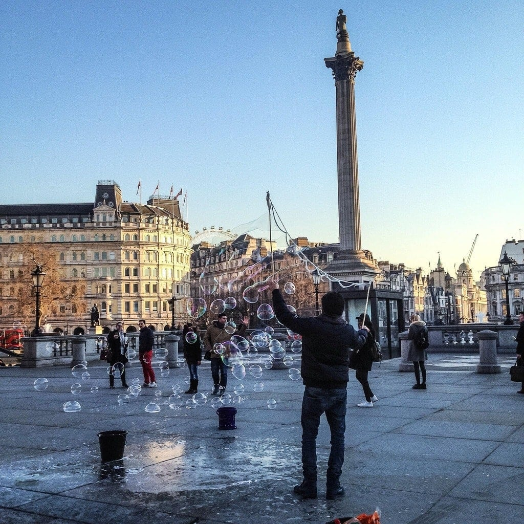 Top Tips For Dining Out In London (Photo of Trafalgar Square)