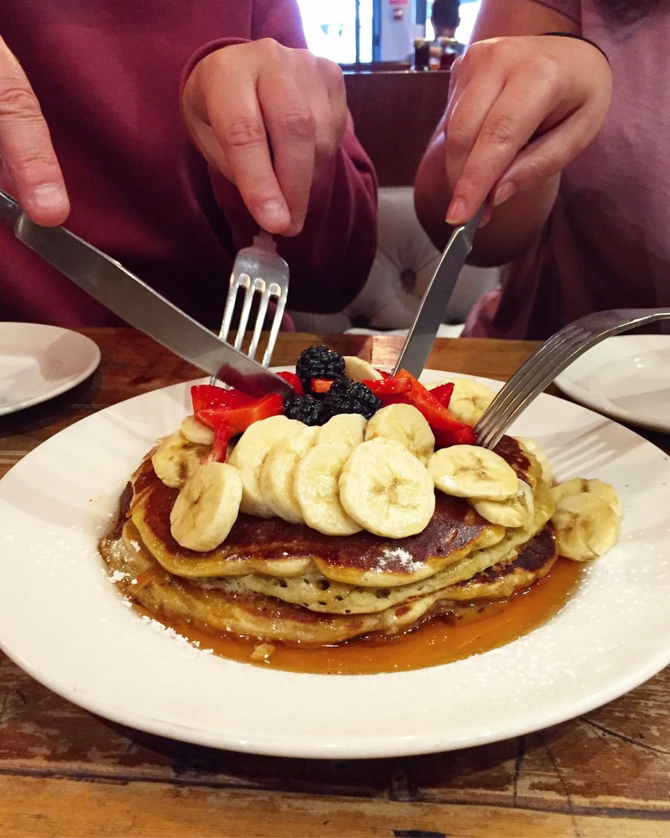 Top Tips For Dining Out In London (Photo of pancakes from Balans)