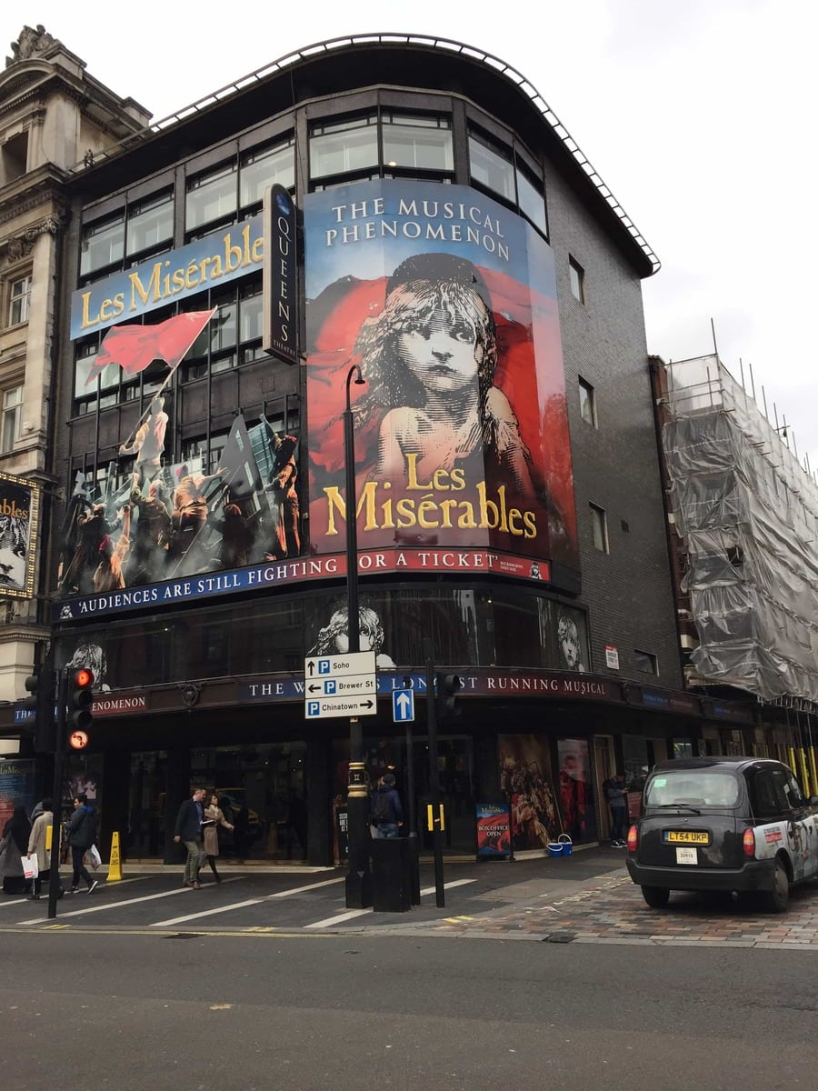 Top Tips For Dining Out In London (Photo of Les Miserables London Theatre)