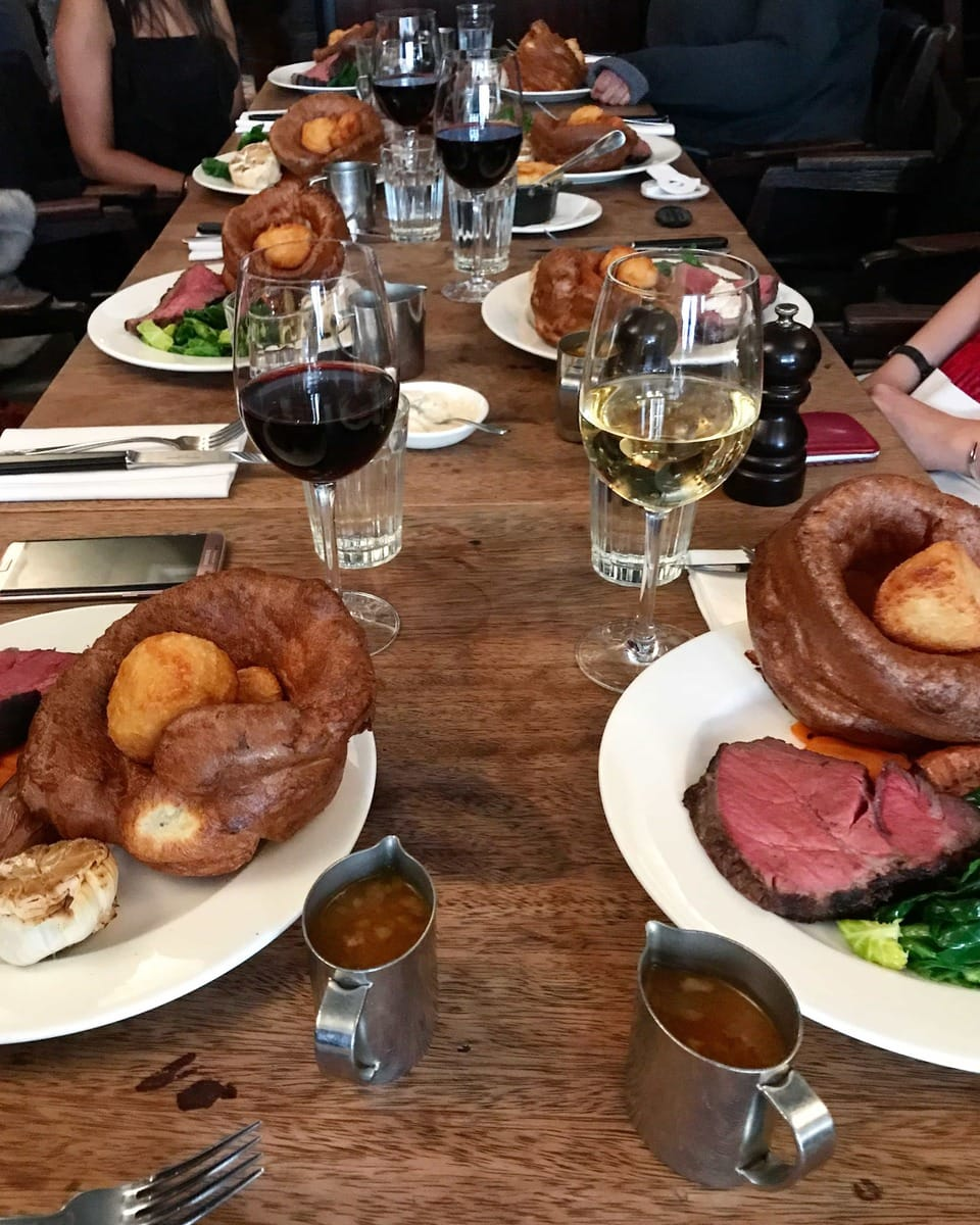 Hawksmoor Sunday Roast - A Year of The London Food Social: A monthly meet up of people who love food and want to meet others that do too.
