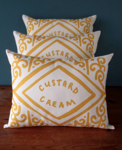 Custard Cream Printed Cushion - The Ultimate Gift Guide for Food Lovers