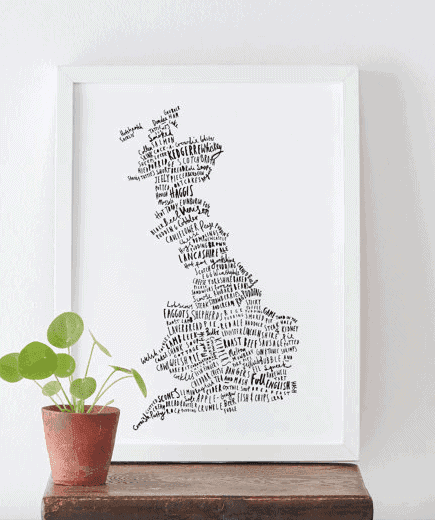 British Food Map Print - The Ultimate Gift Guide for Food Lovers