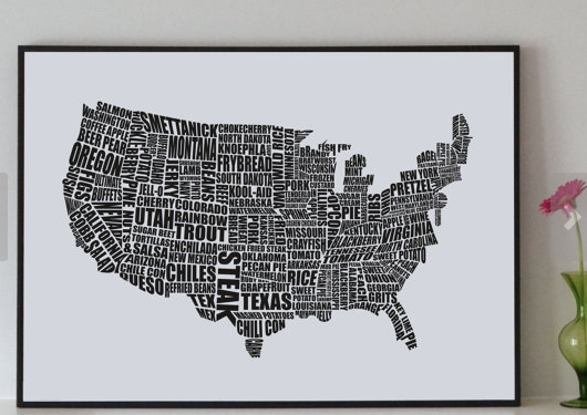 American Gastronomy Map Print - The Ultimate Gift Guide for Food Lovers