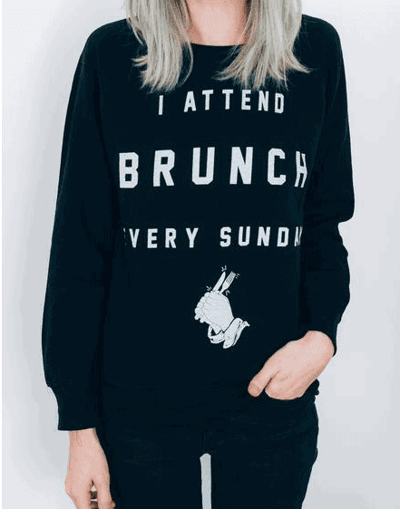 I ATTEND BRUNCH EVERY SUNDAY CREWNECK  - The Ultimate Gift Guide for Food Lovers