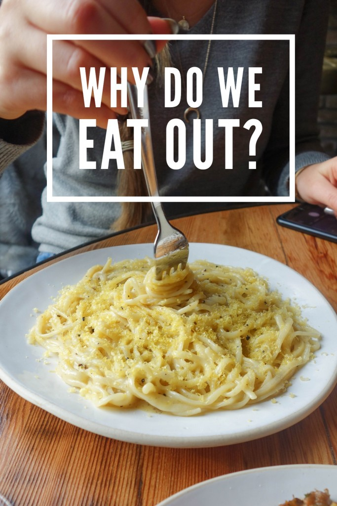 Why Do We Eat Out?