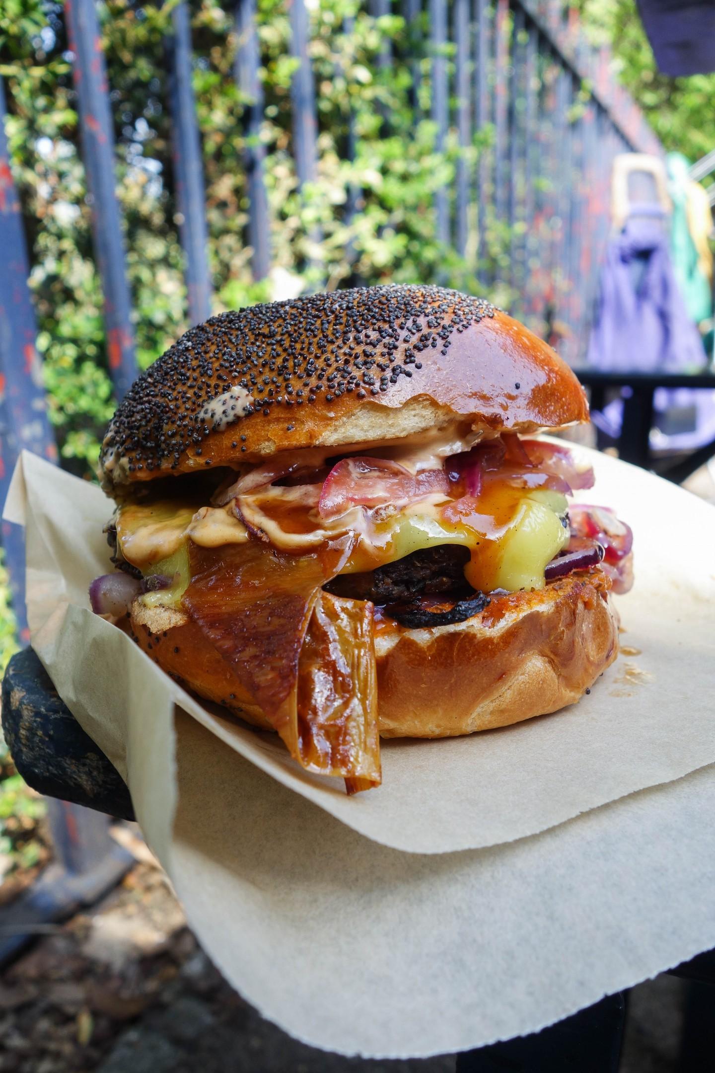 The big V vegan burger-1