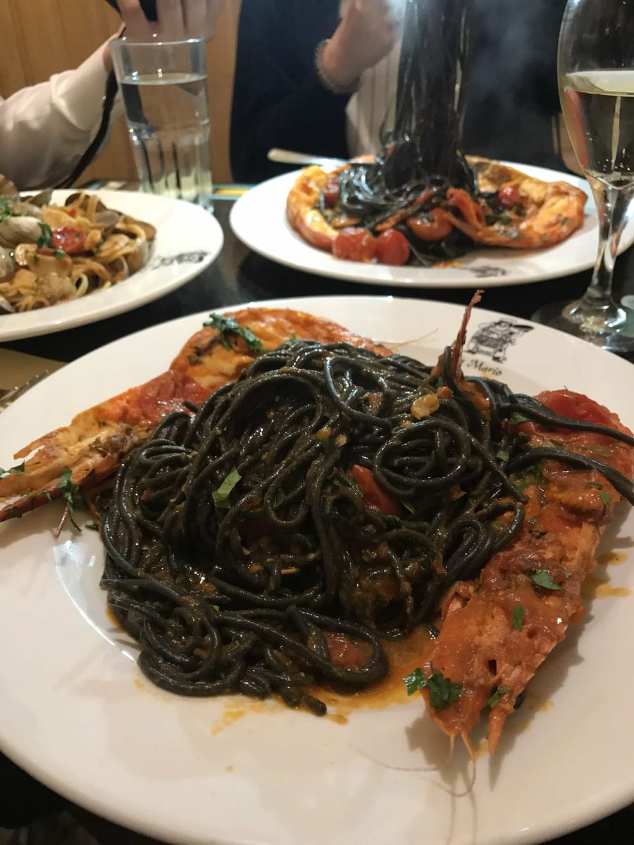Squid Ink Pasta, Da Mario: May's London Food Finds 2018