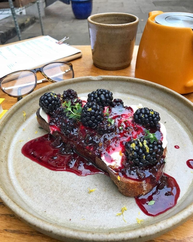 Blackberry Toast - Octobers London Food Finds (2018) : Picks From London's Best Restaurants