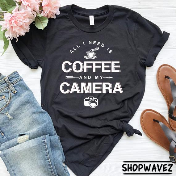 Coffee & Camera T-shirt - Awesome Gift Ideas For Photographers (At All Levels & For All Budgets!)