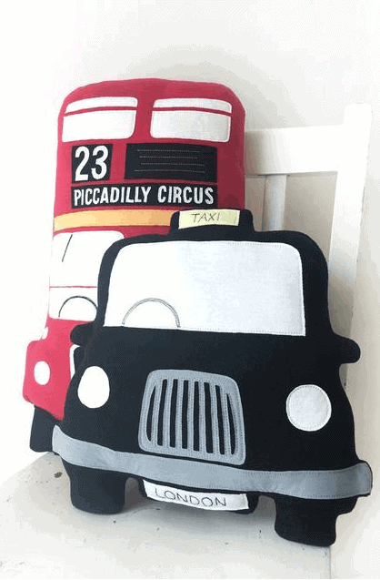 London Taxi/Bus Cushion: Gorgeous Gifts For People Who Love London!