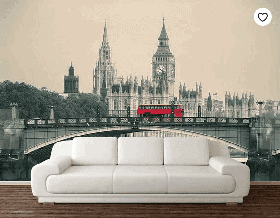 London Wall Mural: Gorgeous Gifts For People Who Love London!